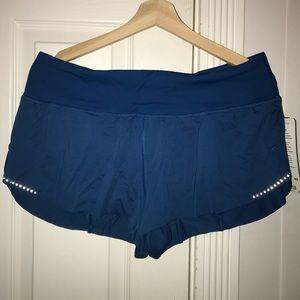 Blue lululemon running shorts